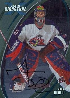 Autograph Warehouse 62219 Marc Denis Autographed Hockey Card Columbus Blue Jackets 2003 In The Game No. 20