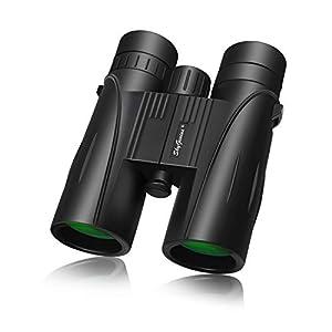 8×42 Full-size Binoculars For Adults(BAK4,Green Lens), Durable HD Clarity Binoculars For Bird Watching Sightseeing…
