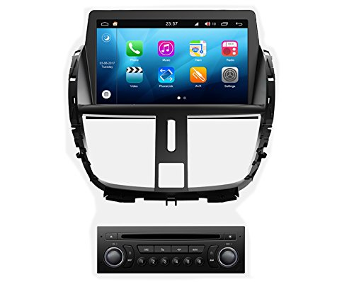 Peugeot 207 Car - RoverOne Android 8.0 Octa Core Car DVD Player for Peugeot 207 with GPS Navigation Radio Bluetooth Phone Link Touch Screen