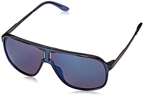 Carrera Men's New Safaris Aviator, Blue & Blue Sky Mirror, 62 mm ()