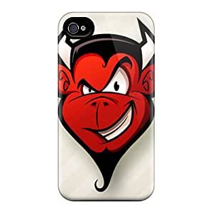 For DennistEM Iphone Protective Case, High Quality For Iphone 4/4s The Devil Ip4 Skin Case Cover