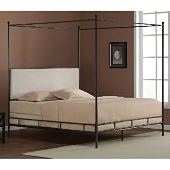 this item lauren king metal canopy bed - Iron Canopy Bed Frame