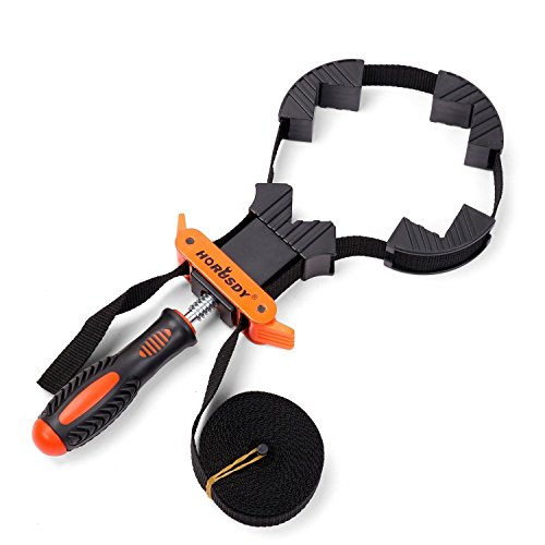 HORUSDY Band Clamp, Woodworking Frame Clamp Strap Holder for Picture Strap Clamp Strap Clamp ()