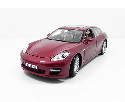 (Maisto 1:18 Scale Porsche Panamera Turbo Diecast Vehicle, Red)
