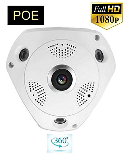 HD Security 1080P POE 2 0MP 360 degree Panoramic CCTV Security IP Network  FishEye Camera