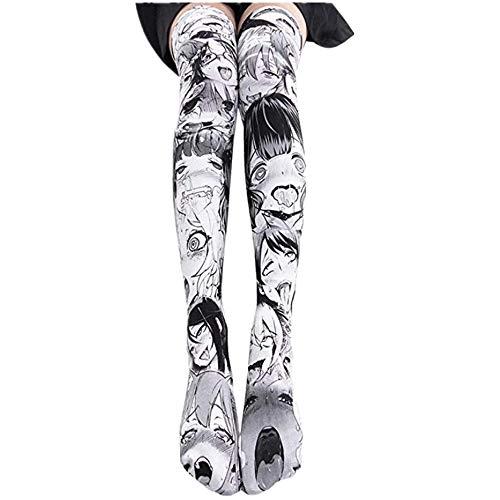 My sky Knee High Socks 3D Print Long Stockings Cosplay Tight High Socks (2) ()