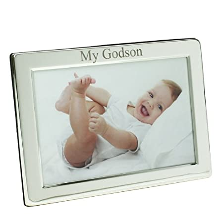 Silver Plated My Godson Photo Frame, 7\