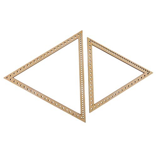(Baosity 2 Pieces/Set Wooden Triangle Knitting Loom Craft DIY Weaving Tools for Handmade Wall Hanging Household Sewing Weaving)