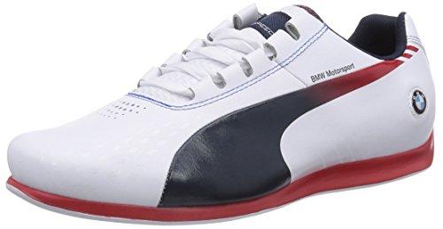 Pumas Bmw Ms Evospeed 1.3 Ultra Herren Wei? Chaussures De Sport (02 Blanc-bleu