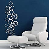 3D Mirror Wall Sticker Circle Mural Art Home Decor Removable room Decals Wall Sticker Home