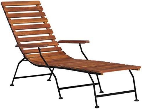 vidaXL Madera Acacia Maciza Tumbona de Jardín Muebles Mobiliario de Exterior Terraza Porche Patio Casa Hogar Piscina Aire Libre Asientos Sofá Sillones: Amazon.es: Hogar
