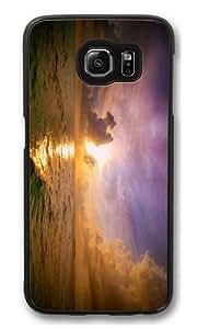 beautiful ocean sunset Custom Samsung Galaxy S6/Samsung S6 Case Cover Polycarbonate Black