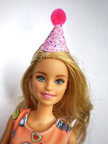 - 8 Mini Party Hats for Barbie or Fashion Doll - Assorted