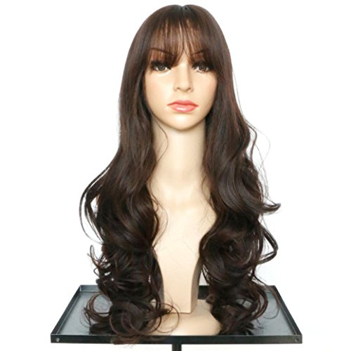 [DEESEE(TM) Women's Wavy Curly Long Hair Full Of Wig Cosplay Costume Party Natural Wigs (C)] (Making Waves Sailor Costume)