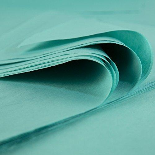 Fogli di carta di seta Premium, Blu Caraibe, 48fogli di 50cm x 75cm, 18Grammi, produce in Francia Rdie