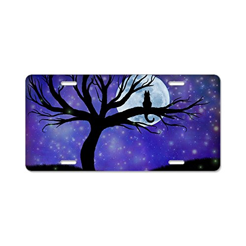 CafePress - Cosmic Cat Aluminum License Plate - Aluminum License Plate, Front License Plate, Vanity -