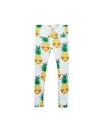 Iuhan Girls Skinny Pineapple Printed Stretchy Yoga Pants Leggings Clothes Pants