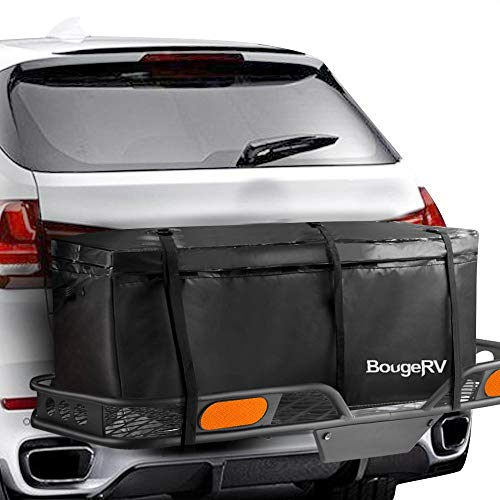 BougeRV Hitch Cargo Carrier Bag Waterproof/Rainproof Hitch Mount Cargo Bag for Car Truck SUV Vans Hitch Trays and Hitch Baskets (48'' L x 20'' W x 22'' H) ()