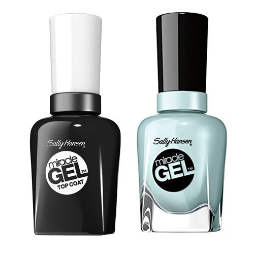 Sally-Hansen Miracle Gel, Tea Party and Top Coat Kit with...