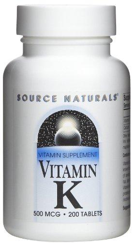 La vitamine-K-500-mcg-200-Comprimés par Source Naturals-