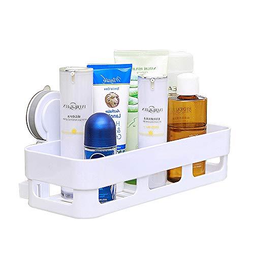 HOOMTAOOK Super Power Vacuum Suction Bathroom Shelf No Drill Storage Rack Removable Reusable Kitchen Sink Sponge Storage Organizer Holder Basket by HOOMTAOOK