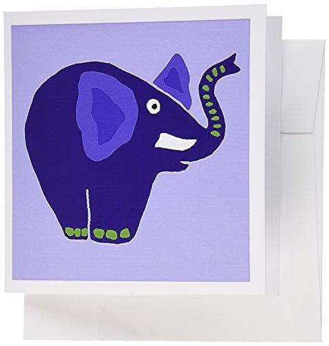 (3dRose Funny Blue Elephant Art, Greeting Cards, Set of 6)