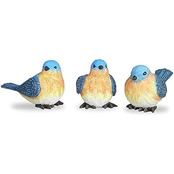 Good Bluebird Figurines Set Of 3 Styles 4 Inch