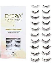 10 Styles Faux Mink Lashes Mix 10 Pairs False Eyelashes Natural Look 3D Small Face Eyelashes Short Soft Fake Lashes 100% Handmade Lashes Wispies Reusable Eye Lash 1 Pack by EMEDA
