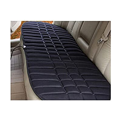 12V Black Heating Auto Car Seat Cover Warmer Cushion for Rear Seats