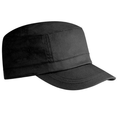 Beechfield Unisex Organic Cotton Army Cap (One Size) (Black) 2d3879aad23