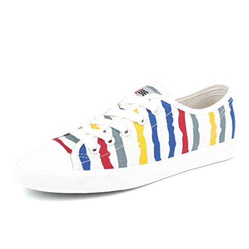 color Casualesesese plano de zapatos la pintura Zapatos cordones lona estudiantes coreana con fondo B Los verano en Banda de versión RwZYxf
