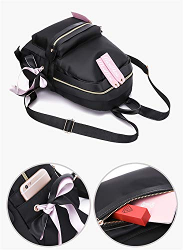 Sac Femme Dos Bonbon au porté Main Noir HCXIN Rose à Rose pour 6wxUR60d