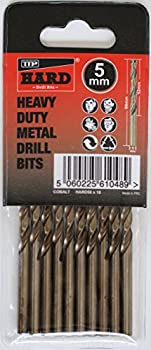 TTP HARD drills Bits 5mm 10 X Metric Drill Bits Cobalt For Drilling Harder Metals Stainless Chrome Aluminum Cast Iron