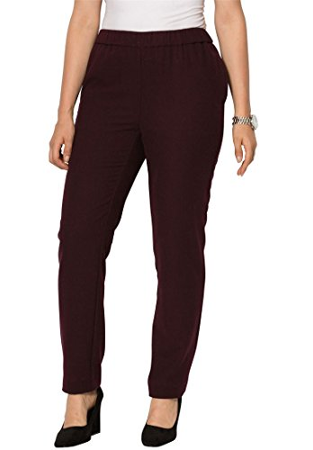 Jessica-London-Womens-Plus-Size-Wool-Pants-With-Elastic-Waist