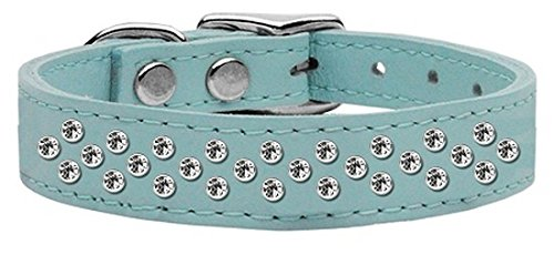 16\ Mirage Pet Products Sprinkles Clear Crystal Leather Baby Dog Collar, 16