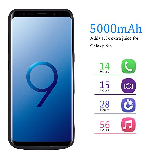 RUNSY Samsung Galaxy S9 Battery instance 5000mAh Rechargeable Extended Battery Charging instance External Battery Charger instance Backup capability Bank instance utilizing Kickstand 58 inch Battery Charger Cases
