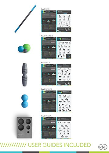 RAD All In Kit I Myofascial Release Tools I Multiple Densities I Self Massage Mobility and Recovery by RAD (Image #4)