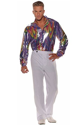Easy Cheap Diy Halloween Costumes For Adults (Underwraps Mens Disco Shirt Size, Standard)