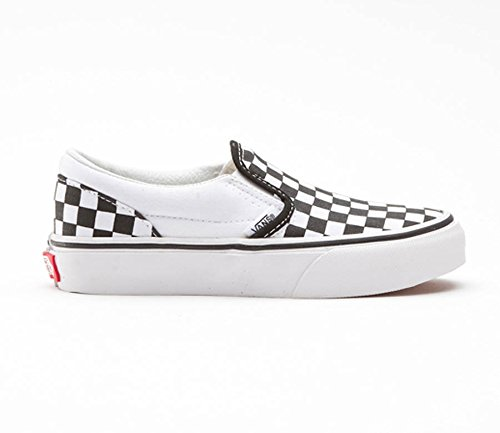 Vans Boys' Classic Slip-On (Tod/YTH) - (Checkerboard) Black/True White - 11 Toddler -
