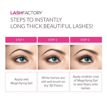 4d04d088fea Amazon.com : 3D Fiber Mascara 300X by Lash Factory - Black, Waterproof,  Natural and Hypoallergenic Volumizing Mascara for Lengthening and  Thickening Lashes ...