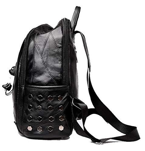 à Sacs PU bandoulière Tout Noir TSFBG182068 Femme Achats Cuir Sacs Noir Zippers fourre AalarDom qwEzXw