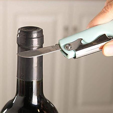 N\A Botella de Vino abridor, Acero Inoxidable Sacacorchos Sommelier for los camareros, Sacacorchos for el Vino y la Cerveza (Color : -, Size : -)