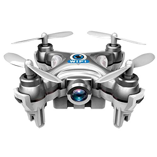 Soosch Cheerson CX-10W 4CH 2.4GHz iOS / Android APP WiFi Romote Control RC FPV Real Time Video Mini Quadcopter Helicopter Drone UFO with 0.3MP HD Camera, 6 Axis Gyro - Silver ()