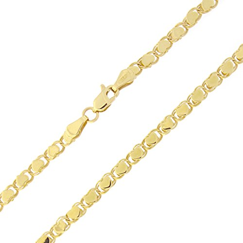 10k Yellow Gold 2.6mm Diamond-Cut Hearts Chain Anklet - 10'' by Beauniq