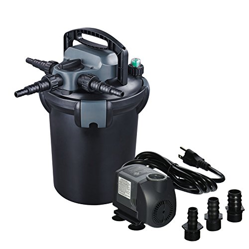 Jebao CBF-4000 13-watt UVC Bio Pressure Pond Filter with 850GPH Pump, Up to 1000 gallon ()