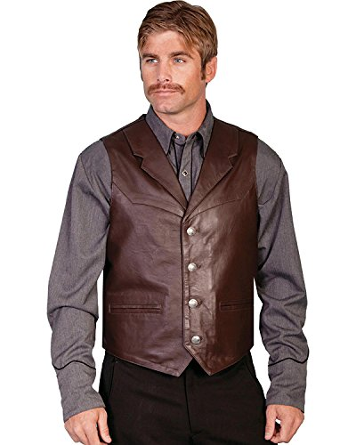 Scully Men's Lambskin Lapel Vest Brown X-Large