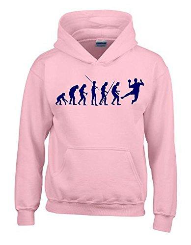 HANDBALL Evolution Kinder Sweatshirt mit Kapuze HOODIE pink-navy, Gr.152cm