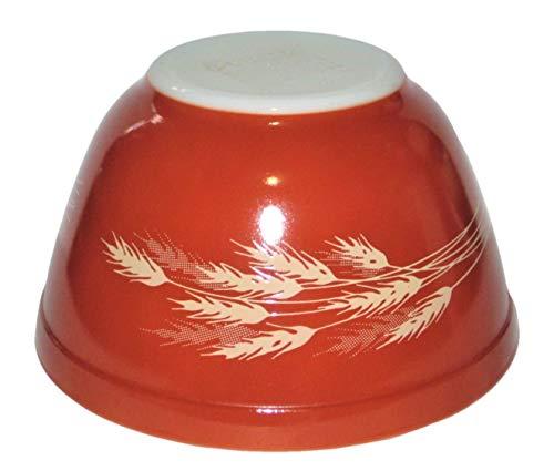 Vintage Pyrex Harvest Wheat 750ml Redish-Brown Glass Mixing Nesting Batter Bowl, 3 1/2 x 5 1/2 Inch ()