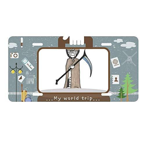 Egypt Mummy Halloween Death Horus License Plate Car Decoration Tin Sign Travel -
