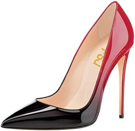 FSJ Women Fashion Pointed Toe Pumps High Heel Stilettos Sexy Slip On Dress Shoes Size 4-15 US